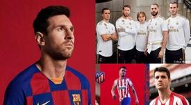 Las equipaciones de los equipos de Primera para la 2019-20. RealMadridCF/FCBarcelona/Atleti