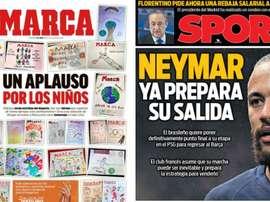 Portadas de la prensa deportiva del 05-04-20. Marca/Sport