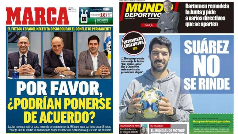 Portadas de la prensa deportiva del 08-04-20. Marca/MundoDeportivo