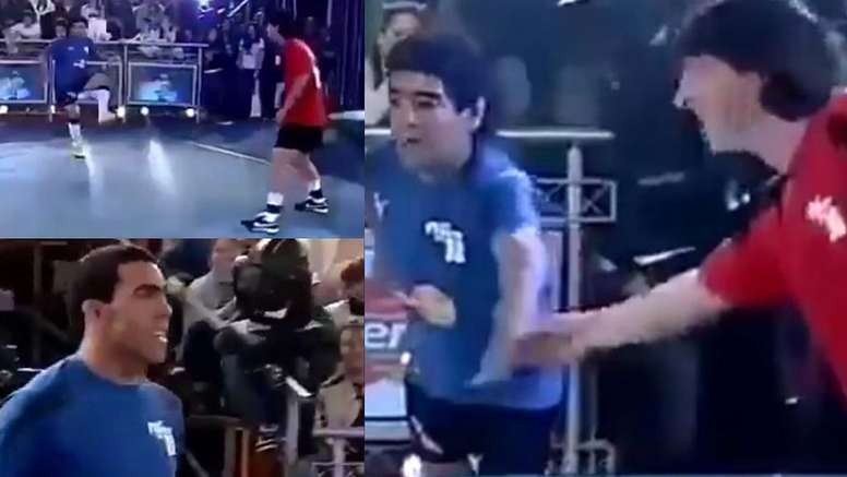 Messi and Maradona teamed up. Screenshot/CanalTrece