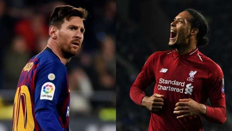 A sincera opinião de Messi sobre Van Dijk. EFE-AFP