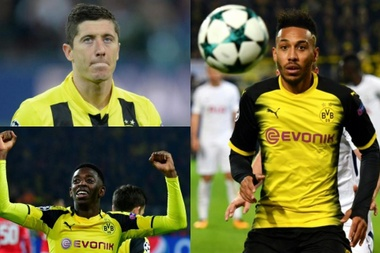 Grandes craques passaram pelo Borussia. Montagem/AFP