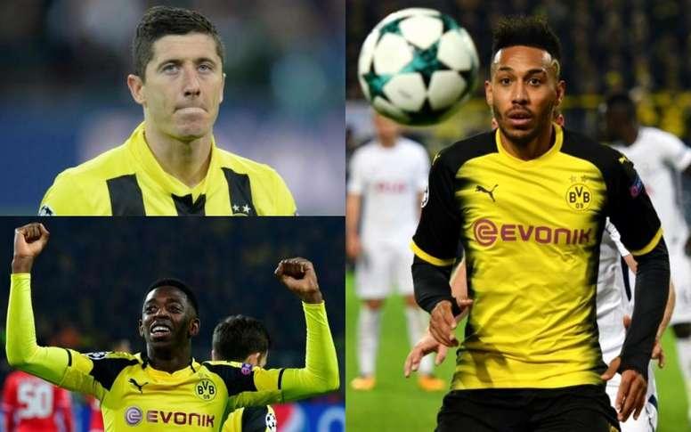 Grandes estrellas han pasado por las filas del Borussia. Montaje/AFP
