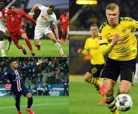 Lewandowski, Mbappé e Haaland estão entre os que mais marcaram. AFP