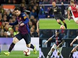 Messi, Cristiano y Neymar ocupan el podio. AFP