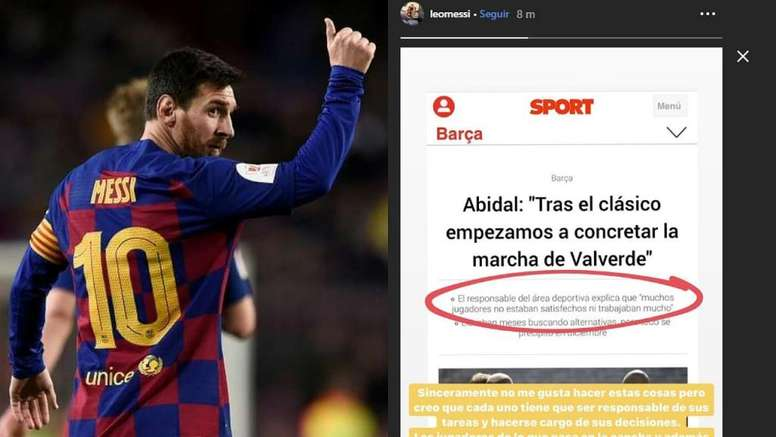 Messi fired back. AFP/Screenshot/Instagram/leomessi