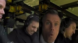El divertido pique de Neville y Carragher en el United-Liverpool. Capturas/SkySports