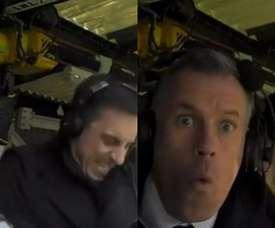 L'échange insolite entre Neville et Carragher lors du derby. Captures/SkySports