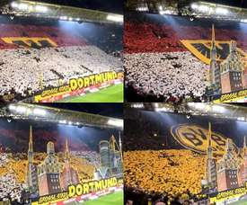 Le superbe tifo des supporters du BvB. Capture/Twitter/SID_Nowag