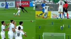 Cazorla volvió a marcar en el estreno del Al Sadd en Liga. Captura/AlkassDigital