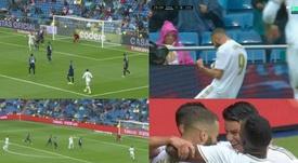 Spettacolo del Real Madrid nella prima frazione. Captura/MovistarLaLiga/ElChiringuitoTV