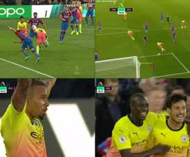 Man City scored two goals in double quick time to take charge. Captura/SPORTTV2/DAZN