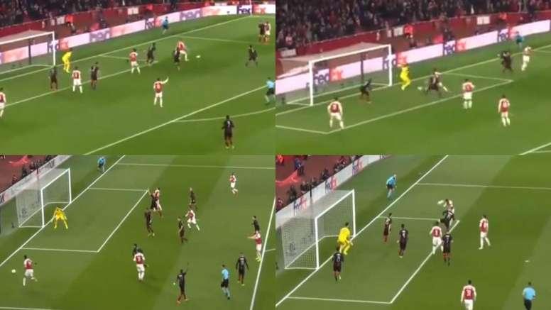 El Arsenal dio la vuelta a la eliminatoria en 15 minutos. Capturas/movistar+