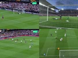 Les deux buts du match. Capture/Movistar