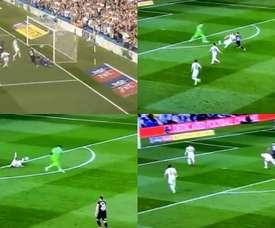 Lío entre Casilla y Cooper y el Derby County siguió con vida. Capturas/DAZN