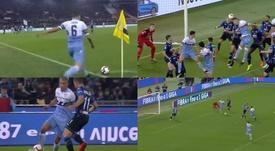 Goles que valen copas: Mlinkovic-Savic y Correa hizo la jugada de su vida. Capturas/DAZN