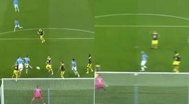 Otamendi et Agüero frappent les premiers contre Southampton. Captures/DAZN
