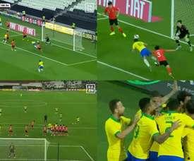 Paqueta and Coutinho gave Brazil a 2-0 lead inside the first half an hour. Captura/DAZNEspaña