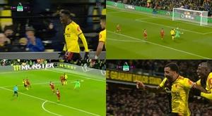 I tre goal che hanno abbattuto il Liverpool. DAZN