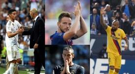Los 10 jugadores que podrían salir de Barça y Madrid en enero. AFP/EFE