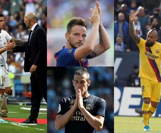 Quem poderá sair do Barça e Real Madrid. Montagem/AFP/EFE