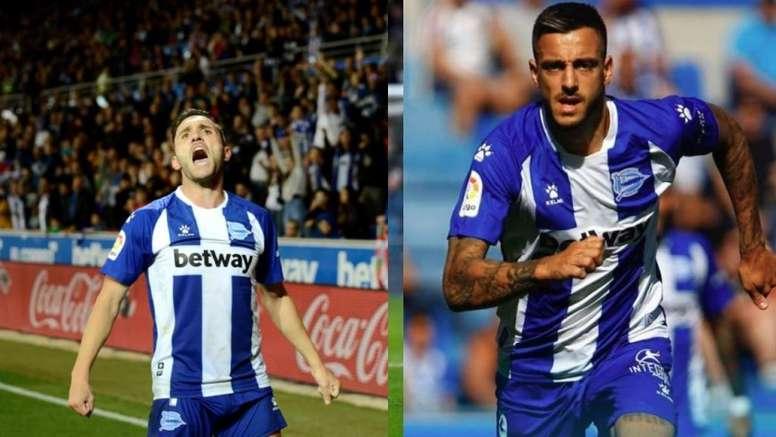Lucas Pérez y Joselu, los más acaparadores de LaLiga. EFE/Archivo
