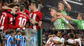 Los datos del primer tercio de la Liga 2019-20. EFE/AFP