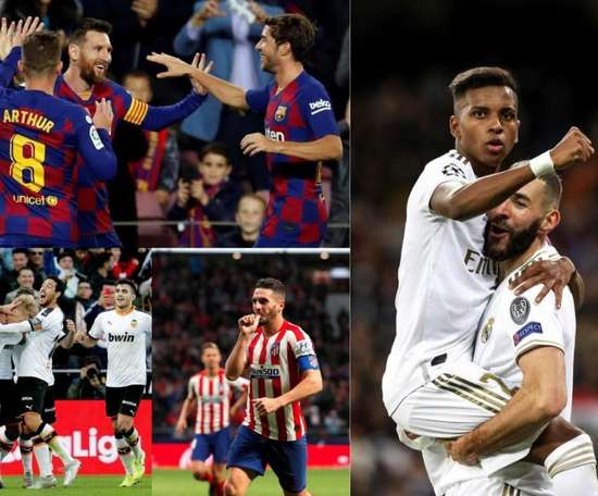 Possible 'Clasico' in the Spanish Supercup final. EFE/AFP