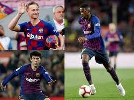 Le futur XI du Barça pour l'aprés-Messi. EFE-AFP