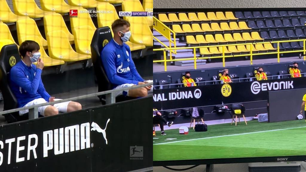 Football Post Covid 19 Masks And Social Distancing On Bench Besoccer