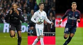 Jogadores que mais movimentaram dinheiro com transferências. AFP