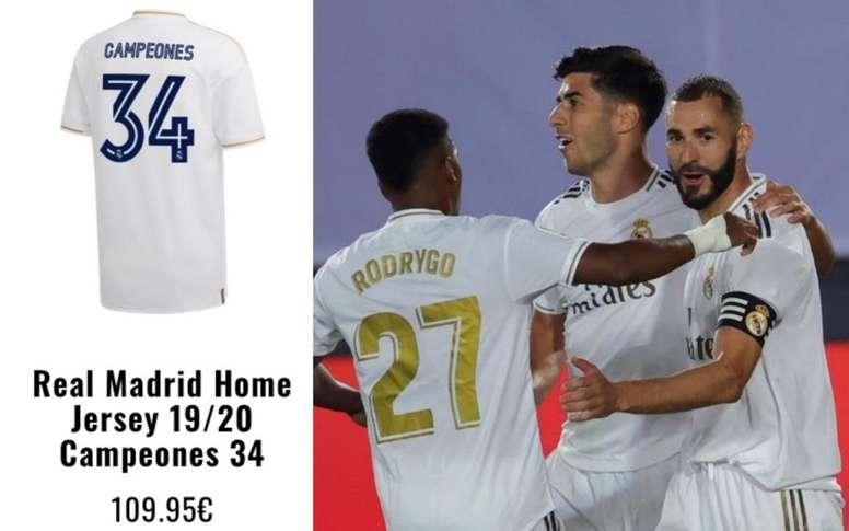 De ganar al Villarreal, los blancos levantarán su título 34 de Liga. EFE/Twitter/andrespgrm