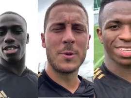 Jogadores do Real Madrid enviaram mensagens aos adeptos madridistas. Twitter/RealMadridCF