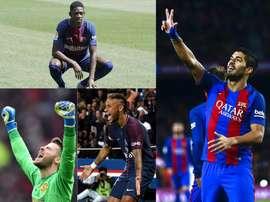 Dembélé, Neymar, De Gea et Luis Suárez. BeSoccer