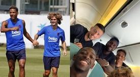 El Barça presume de conexión francesa. Twitter/FCBarcelona