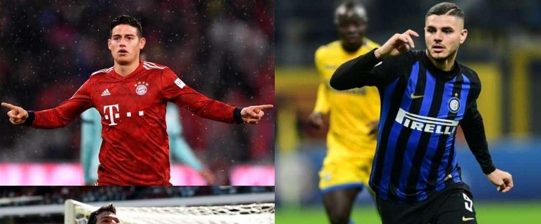 O possível onde de Ancelotti para o Nápoles. EFE/AFP