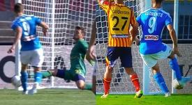 Fernando Llorente, segundo gol en cinco días. Capturas/RaiItalia