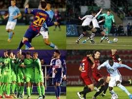 Estos con los 16 clasificados para los octavos de final de la Copa del Rey. EFE