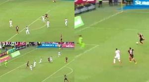 Gabigol s'offre son premier 'hat-tick' avec Flamengo. Captures/EsporteInterativo