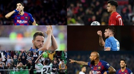 The six protagonists of Setién's transfer market. EFE - AFP