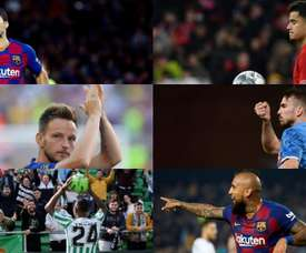 The six protagonists of Setién's transfer market. EFE - AFP