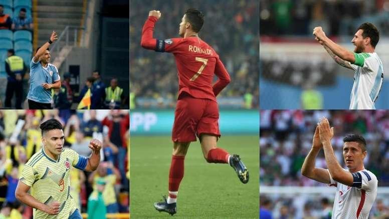 Cristiano, Messi y los demás máximos goleadores por países. EFE - AFP