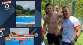 The three players went to a barbecue. Screenshot/DeportesCuatro