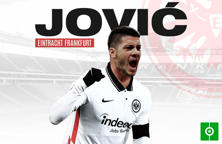 Luka Jovic, reforço do Eintracht. BeSoccer