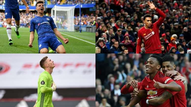 Eight players could win the Premier League young player of the season. AFP