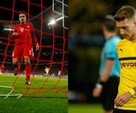 Bayern Munich and Borussia Dortmund both exited the Champions League in the round of 16. AFP