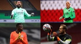 Los diez porteros que más paradas hacen en las grandes ligas. EFE - AFP