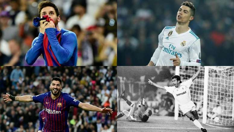 Estos son los jugadores que más goles han marcado en los 'Clásicos'. BeSoccer