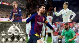 El 'top 10' de máximos goleadores extranjeros en LaLiga. EFE/AFP