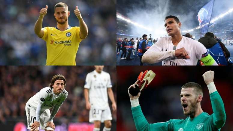 The eleven players who finish their contract in 2020. EFE/AFP